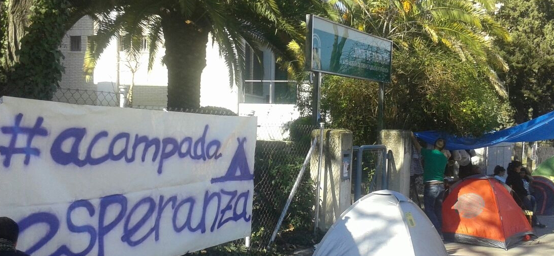 Acampada Esperanza en Jaén
