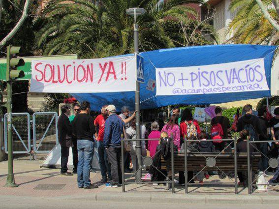 Acampada Esperanza. Diario Guadalquivir