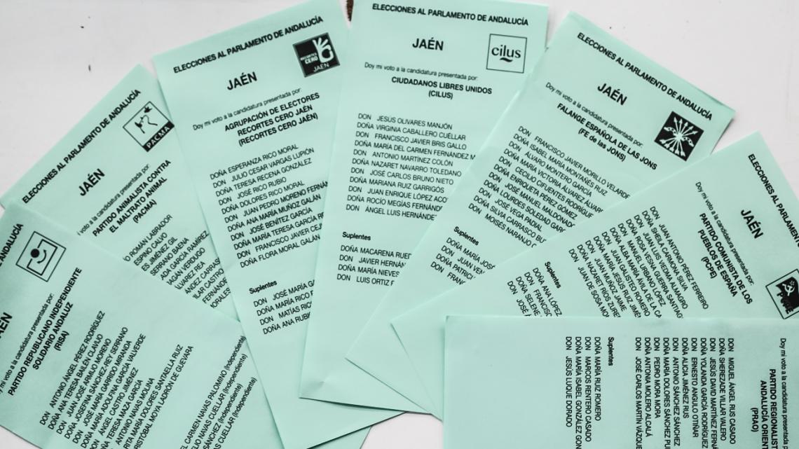 ELECCIONES ANDALUZAS 2015 PAPELETAS