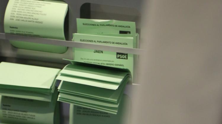 Papeletas del PSOE en las elecciones