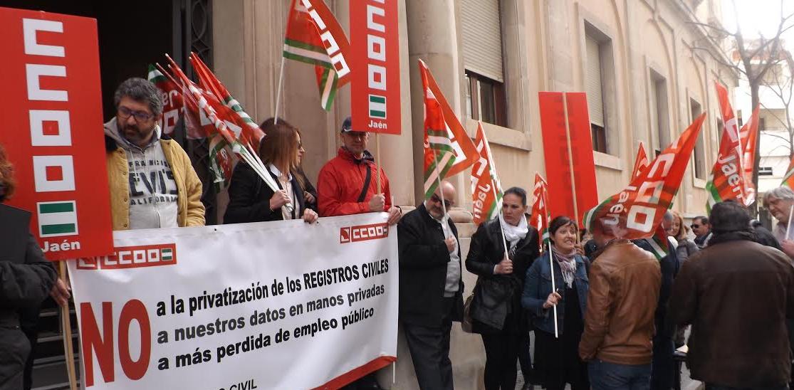 Manifestación de CCOO. M.A.B. Diario Guadalquivir