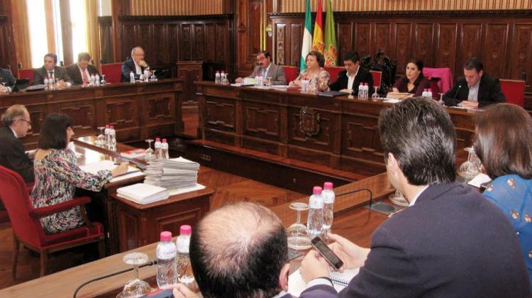 Pleno de la Diputación Provincial de Jaén. Diario Guadalquivir