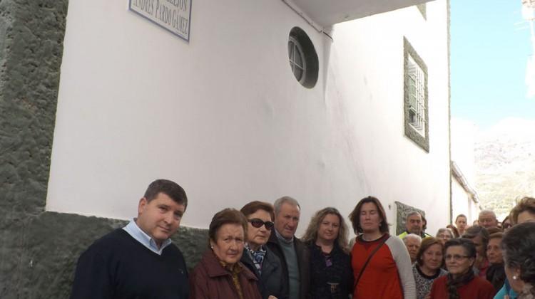 El Ayuntamiento de Bélmez de la Moraleda dedica una calle a Andrés Pardo Gámez. T.G.V. DIARIO GUADALQUIVIR