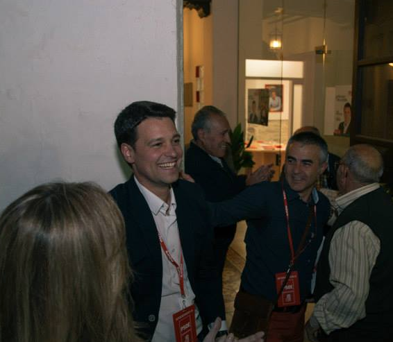 José Ruiz a su llegada a la Casa del Pueblo de Torreperogil