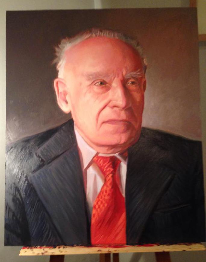 Retrato de don Ramón realizado por David Padilla.