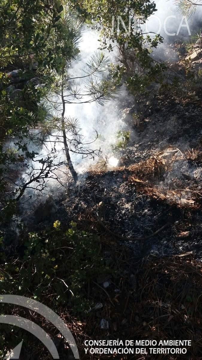 El bombero forestal herido en el incendio de Quesada (Jaén) no reviste gravedad y ya ha sido evacuado