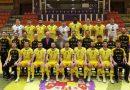El presidente de la Diputación participa en la foto oficial del Jaén Paraíso Interior Fútbol Sala