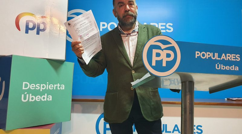 """PP de Úbeda denuncia el """"incumplimiento"""" del PSOE de su """"propia RPT"""" y los """"cuantiosos gastos"""" en juicios"""