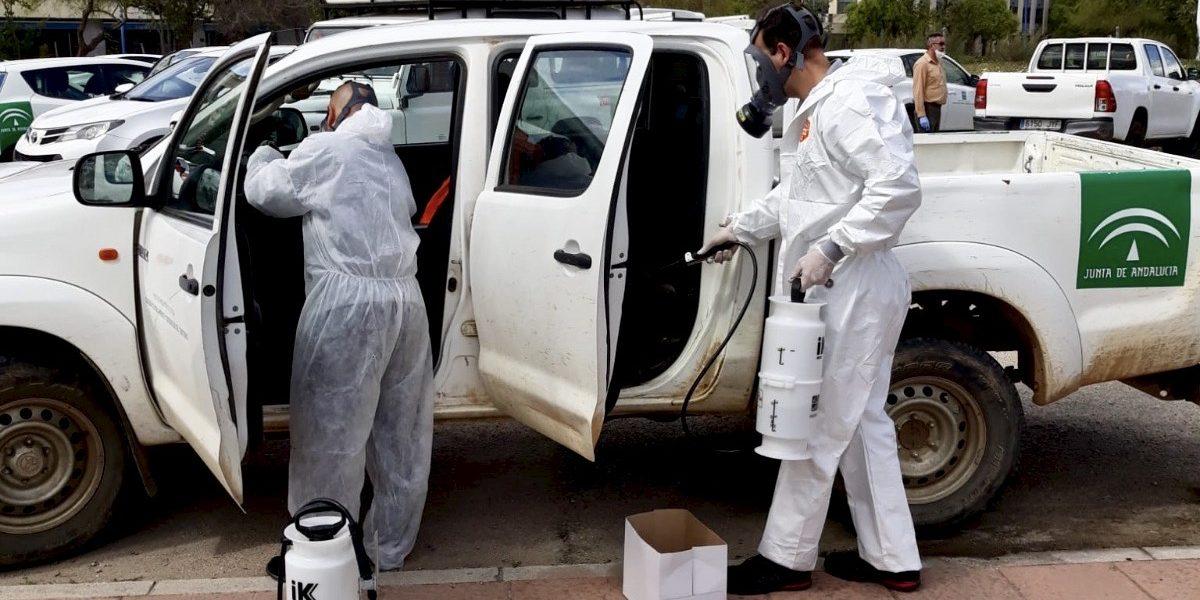 La Junta incorpora efectivos del Infoca a los trabajos de desinfección por el coronavirus