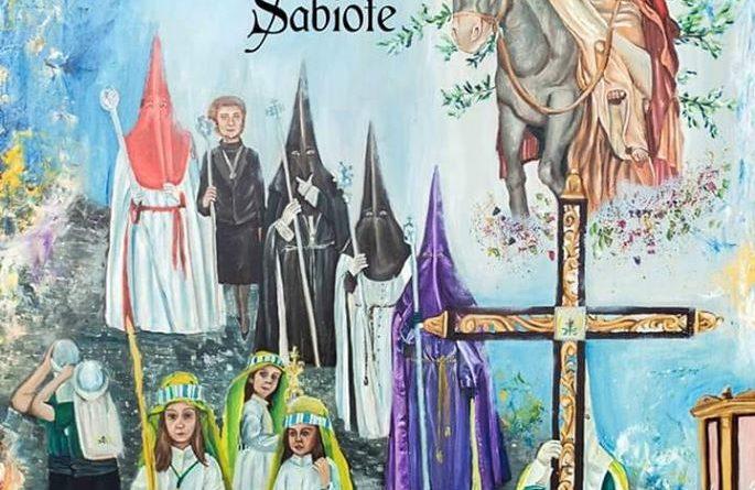 Cartel anunciador de la Semana Santa de Sabiote. Obra de Maria Carmen Reyes.
