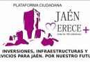 """La plataforma 'Jaén merece más' llama a una nueva cacerolada el sábado """"para no decaer y seguir luchando por Jaén"""""""