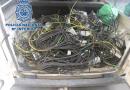 Detenido en Jaén tras ser acusado de tres robos del cableado del alumbrado público